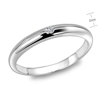 Silver new wedding rings