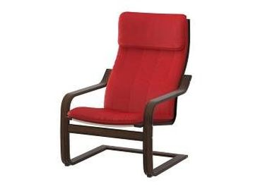 Ikea poang chair brown with red cushion london uk free classifieds muamat - Red poang chair ...