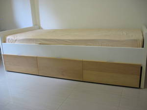 Ikea Single Size Bed Frame With Storage Drawers For Sale