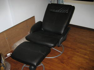 Ikea Malung Leather Swivel Arm Chair And Matching