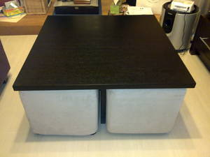 Square coffee table with 4 seats for sale singapore for Square coffee table with seating underneath