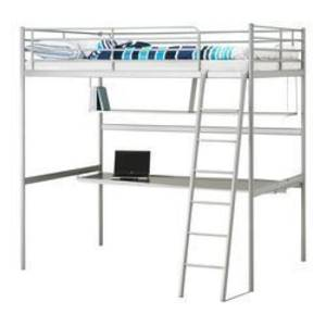 Ikea Single Loft Bed Great For Saving E With Full Desk Sydney Australia Free Clifieds Muamat
