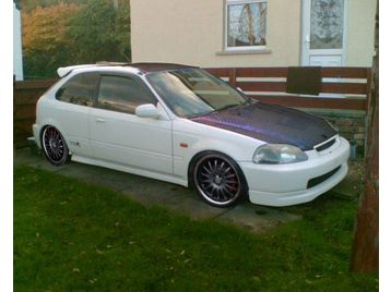 1997 honda civic 1 4 type r replica white 3 door for sale. Black Bedroom Furniture Sets. Home Design Ideas