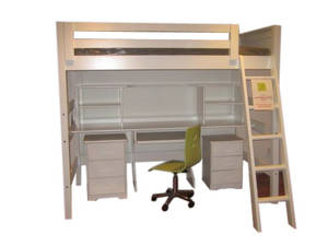 BUNK BED QUEEN SIZE WITH DESK AND SHELVES FROM IKEA - Australia - Free ...