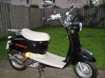 Direct Bikes 50cc cc Jinlun Retro Style Moped