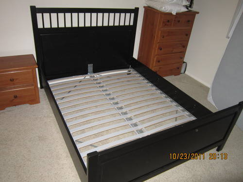 Ikea HEMNES Queen Bed Frame with Headboard FOR SALE  Fort Worth, USA