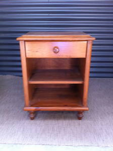 sale adelaide 2 solid timber bedside tables with drawer shelf for sale