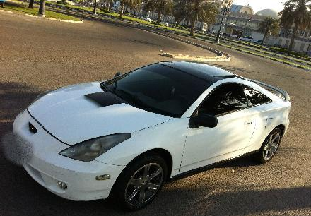 toyota celica gt white black 2001 for sale dubai. Black Bedroom Furniture Sets. Home Design Ideas