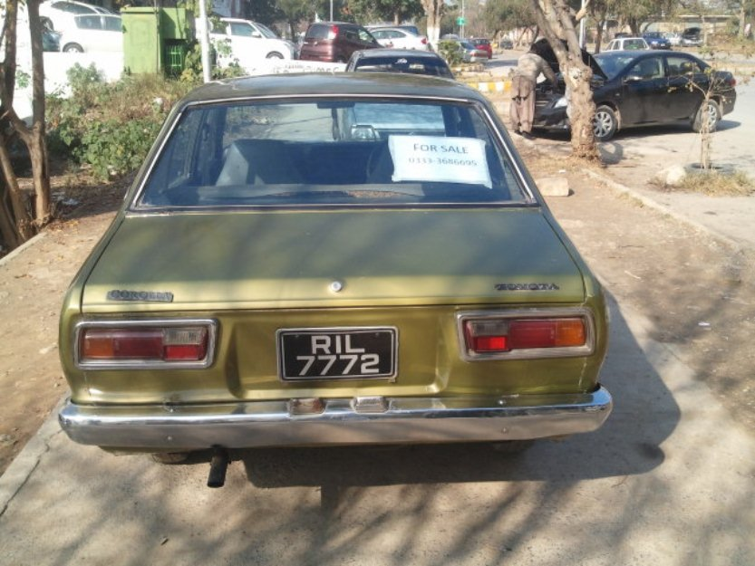 toyota corolla 1974 green color for sale in g 8 islamabad pakistan free classifieds muamat. Black Bedroom Furniture Sets. Home Design Ideas